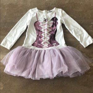 Monnalisa tutu dress long sleeves size 5